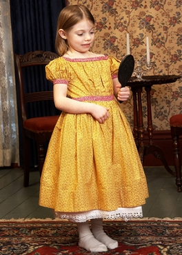 1830s-1860s Child's Simple Gathered Dress